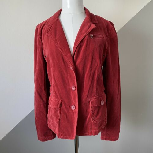 American Eagle Womens Large Red Velvet Blazer Jac… - image 1