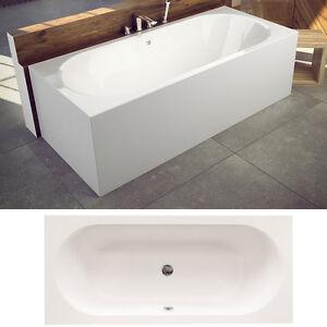 badewanne acryl mit wannentr ger silikon siphon viega rechteck vita wt slv ebay. Black Bedroom Furniture Sets. Home Design Ideas