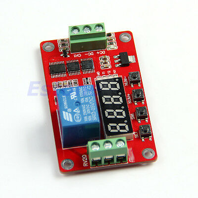 PLC 12V Multifunction Self-lock Relay Cycle Timer Module Home Automation Delay