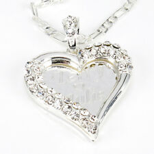 925 Sterling Silver Lovely Hearted Any Personalized Name Necklace Gift for her