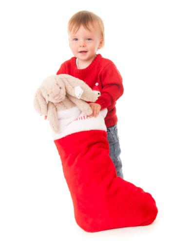 Personalised Embroidered Fleece Super Jumbo Christmas Stocking with name 57cm
