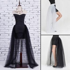 c3e044b0a9efb8 Image is loading Women-4-Layers-Overlay-Tulle-Skirt-Tutu-Overskirt-