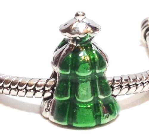 Arbre de Noël /_ Curseur Perles Pour Argent Chaîne Européenne Bracelet Breloque /_ STAR Holiday
