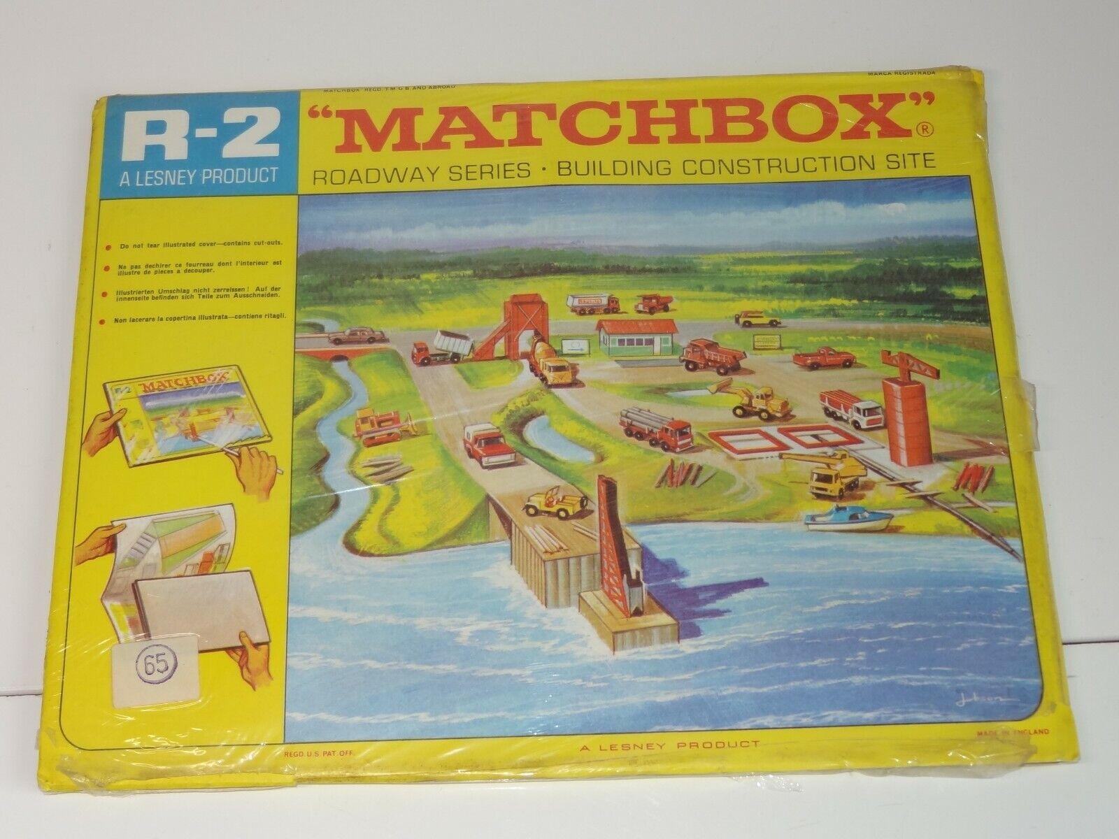 Matchbox lesney R 2 ROADWAY - CONSTRUCTION SITE SITE SITE (225) 3e8
