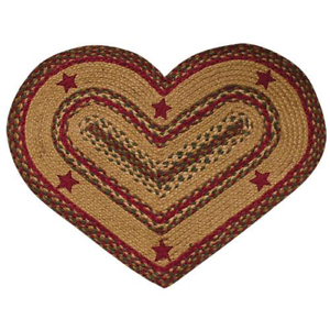 New Primitive Red Green Cinnamon Star Heart Shaped Jute