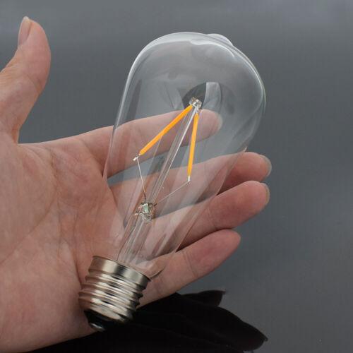 E27 4-16W COB LED RETRO EDISON FILAMENTO LUZ BOMBILLA VINTAGE PARLOR DESK LAMP