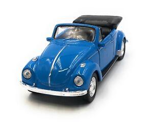 Coche-a-Escala-VW-Escarabajo-Beetle-Cabrio-Emb-orig-Azul-Auto-1-3-4-39