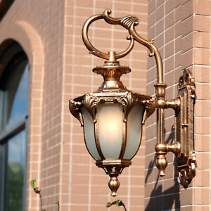 White Gl Metal Lantern Retro Outdoor