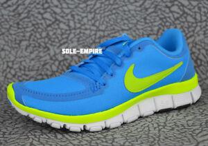 da90d4078f9e Nike WMNS Free 5.0 V4 511281-401 Womens Running Shoes Blue Glow Volt ...