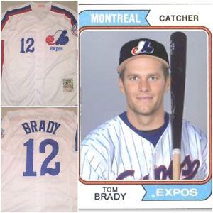 Details about VERY RARE Tom Brady #12 Montreal Expos Replica Baseball Jersey White Mens MEDIUM