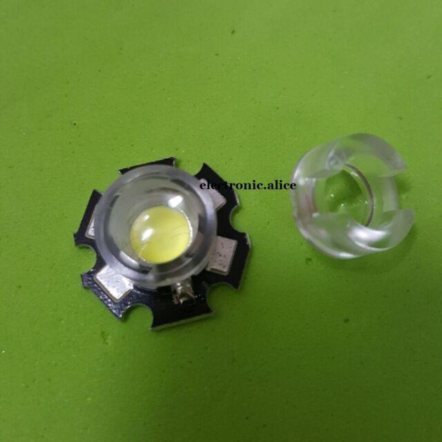20pcs 13mm *10mm Led Lens Holder 60 Degree For 1w 3w LED High Power Bead Bulb