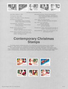 #9157 Contemporary Christmas Stamps #2579/2585a USPS Souvenir Page Rare w/Error