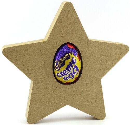 Freestanding MDF Easter Creme Egg holder Star Craft Shape 18mm thick