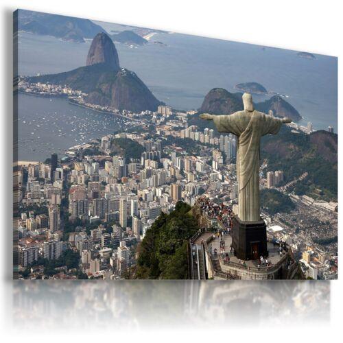 BRASIL RIO DE JANEIRO  View Canvas Wall Art Picture Large SIZES  L166  X MATAGA