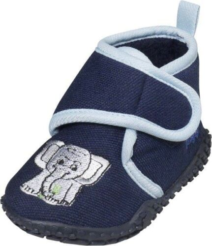 Playshoes House Shoes Embroidery Elephant Hood and Loop Fastener