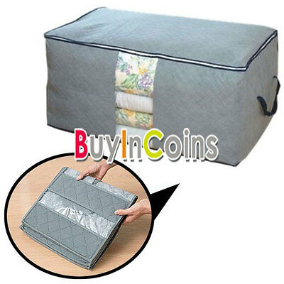 65L Bamboo Charcoal Foldable Storage Organizer Bag No moisture and smell