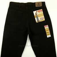 Wrangler Jeans Mens Size 34 X 32 Black - Relaxed Fit Straight Leg