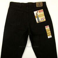 Wrangler Jeans Mens Size 34 X 32 Black - Relaxed Fit Straight Leg