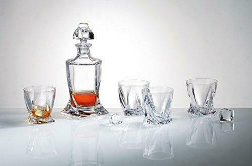 Old-Fashioned  Quadro  7-Pc Whiskey Decanter Decanter Decanter Set, Lead Free 603994