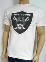 Ambiguous Blublocker Nation Raiders Graphic Tee White Crew T-shirt Mens