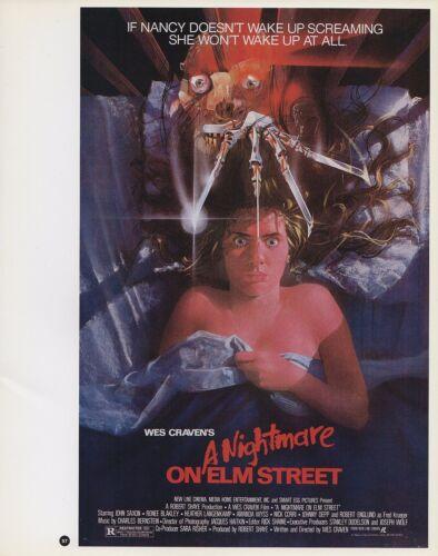 "2003 Vintage Horror /""A Nightmare on Elm Street/"" MINI Art Plate Lithograph"