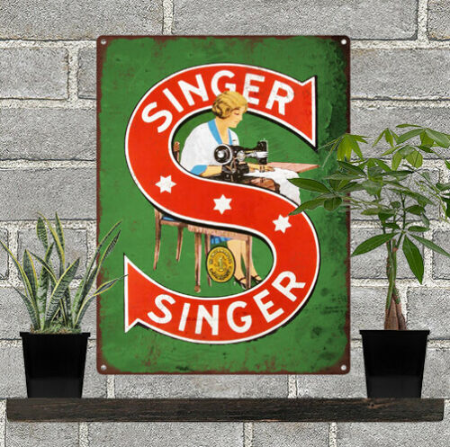 "Singer Metal Sign Ad Repro Sewing Machine 9x12/"" 60239"