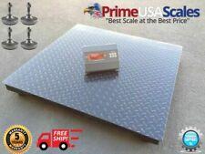 Floor Scale Heavy Duty Platform 48 X 48 2500 X 1 Lb With Digital Indicator