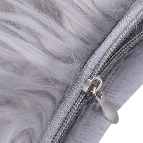 Plush Fluffy Shaggy Soft Pillow Cover Sofa Cushion Cover Household Pillowcase YO
