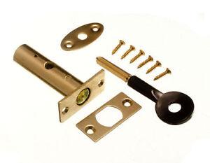 Tuer-Sicherheit-Rack-Schrauben-und-Stern-Key-60Mm-Eb-Vermessingt-Komplett-Mit