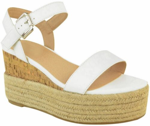 Womens Ladies Summer Platform Ankle Strappy Wedges Open Toe Sandals Shoes Size