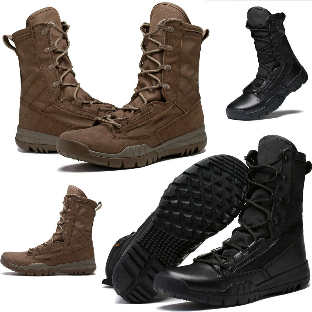 New Mens Army Tactical Military  Leather High Boots Outdoor Combat desert shoes