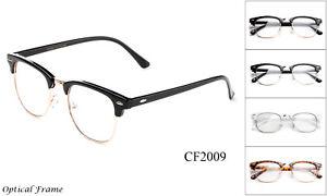 Optical-Frame-Clear-Lens-Glasses-Nerd-Geek-Retro-Vintage-Hipster-Frame-Horn-Rim