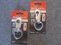 2 Swivel Spring Snap, Hook, 3-5 5/8 Inch, Trigger Snap, Flag Poles Lot Of 2