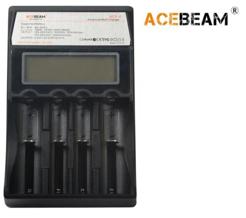 New AceBeam ACE-4 LED battery charger 18650, 16340, 14500, 26650, AA, AAA, C
