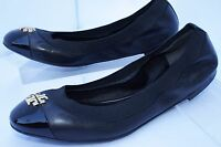 Tory Burch Jolie Shoes Ballet Flats Black Size 7 Slip Ons Leather