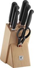 Zwilling Pure Messerblock 8-tlg. Geschwungene neue Kropfform Küchenmesser Messer
