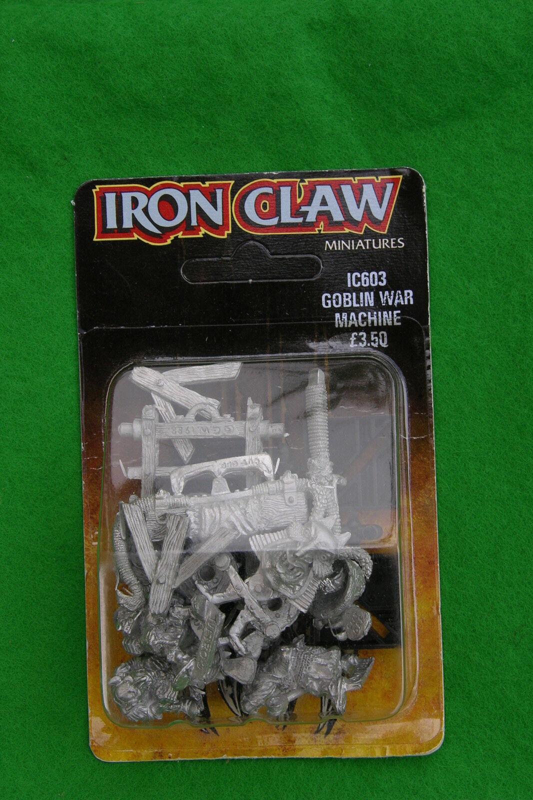 fer claw gobelin machine de guerre WARHAMMER ic603 blister