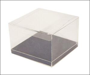 Scatole Trasparenti Bomboniere Matrimonio.Dettagli Su 10 Scatole Trasparenti Fondo Blu 12x12x8cm Bomboniere Fai Da Te Matrimonio Nozze