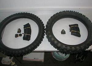 Motorcycle Tires Tubes Rim Locks Knobby Michelin 19 Inch Bridgestone 21 Inch Ebay