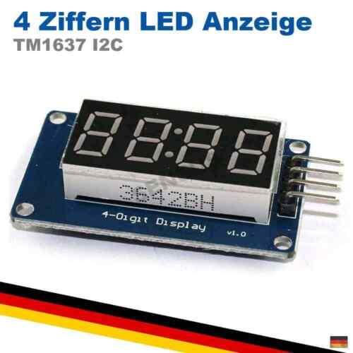 LED TM1637 4 Digit Ziffern 7-Segment Display Modul Arduino Raspberry Pi rot A...