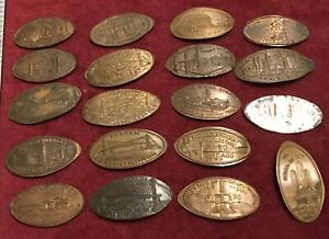 1933-1934-Chicago-Worlds-Fair-Elongated-Penny-Set-A-Century-Of-Progress-Genuine