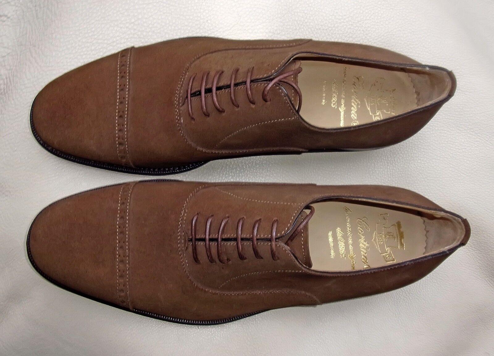 Cortina Italia Oxford Gamuza Marrón Hombres Zapatos 9 EE. UU. 8  2 EU Nuevo