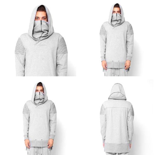 UNKNOWN New York Vengeance Ninja Mask Hoodie in grau Größe XL  (118)