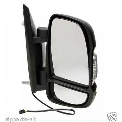 CITROEN RELAY 2006-2014 ELECTRIC BLACK DOOR WING MIRROR DRIVERS SIDE RIGHT O/S