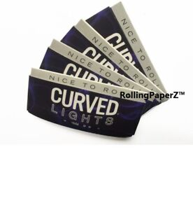 4-Packs-CURVED-LIGHTS-Cigarette-Rolling-PAPERS-1-1-4-Size-50-sheets-per-pack