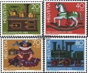 Schweiz-1260-1263-kompl-Ausg-gestempelt-1983-Pro-Juventute