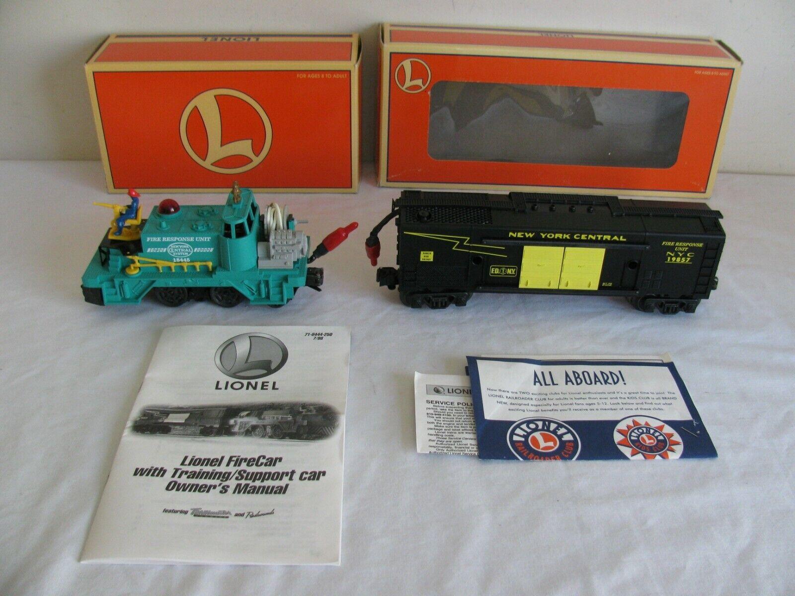 Lionel Trains O O-27 New York Central Fire Car 18445 & Instruction Car 19857 EX