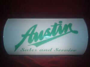 austin,rover,b<wbr/>l,bmc,light up sign,classic,m<wbr/>ancave,vintage style,gift,sev<wbr/>en,nippy