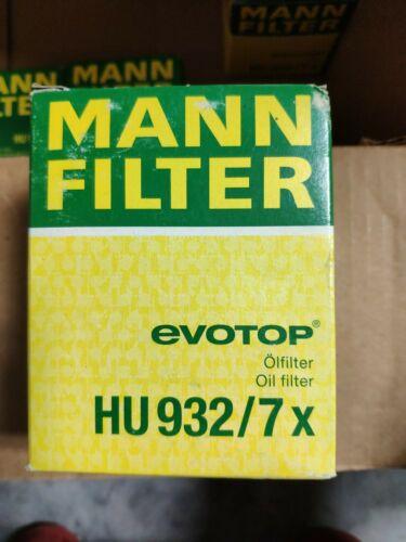 Mann Premium Filters HU932//7X Oil Filter Manufacturer/'s Limited Warranty
