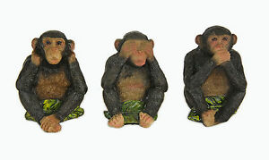 Image Is Loading Three Wise Monkeys See No Hear Speak